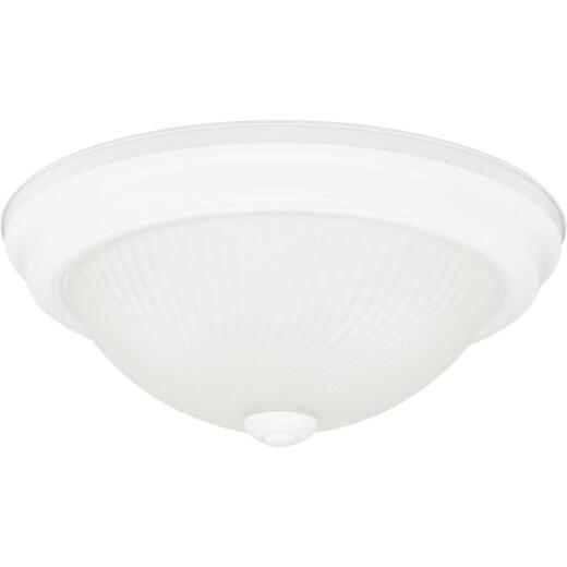 Home Impressions 11 In. White Incandescent Flush Mount Ceiling Light Fixture